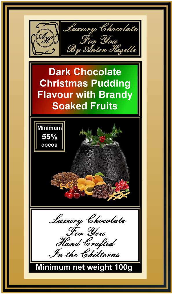 55%  Dark Chocolate Christmas Pudding Flavour & Brandy Soaked Fruits
