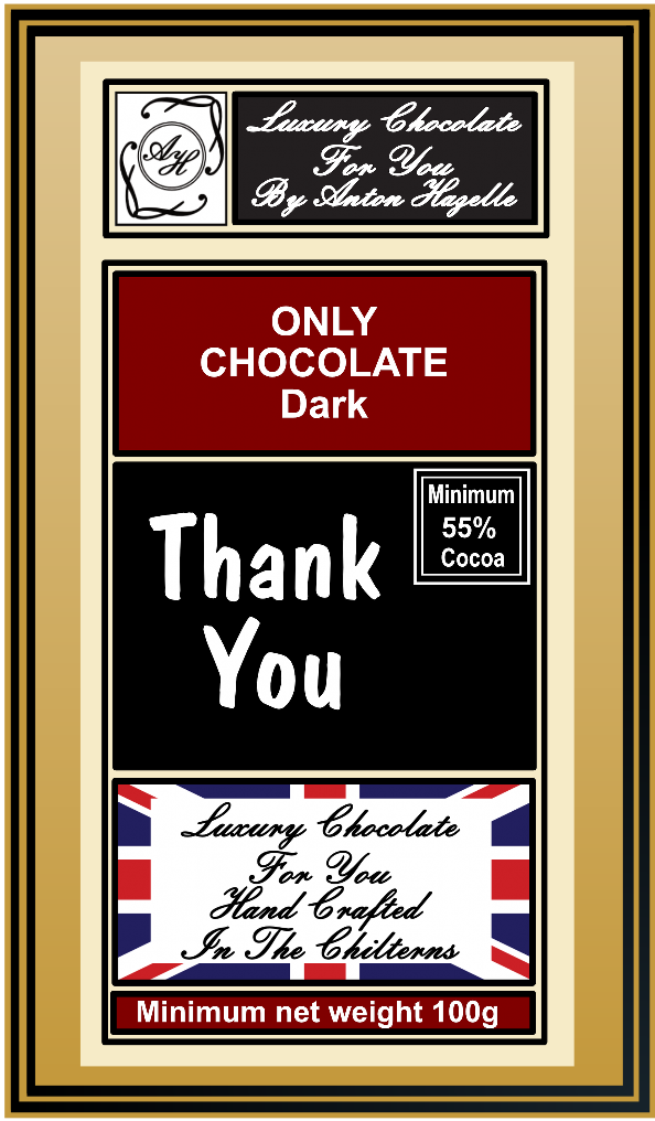 55% ONLY Chocolate 'Thank You'