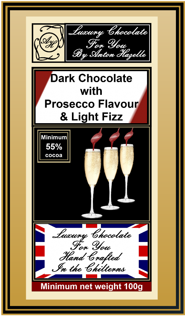 55% Dark Chocolate with Prosecco Flavour & Light Fizz