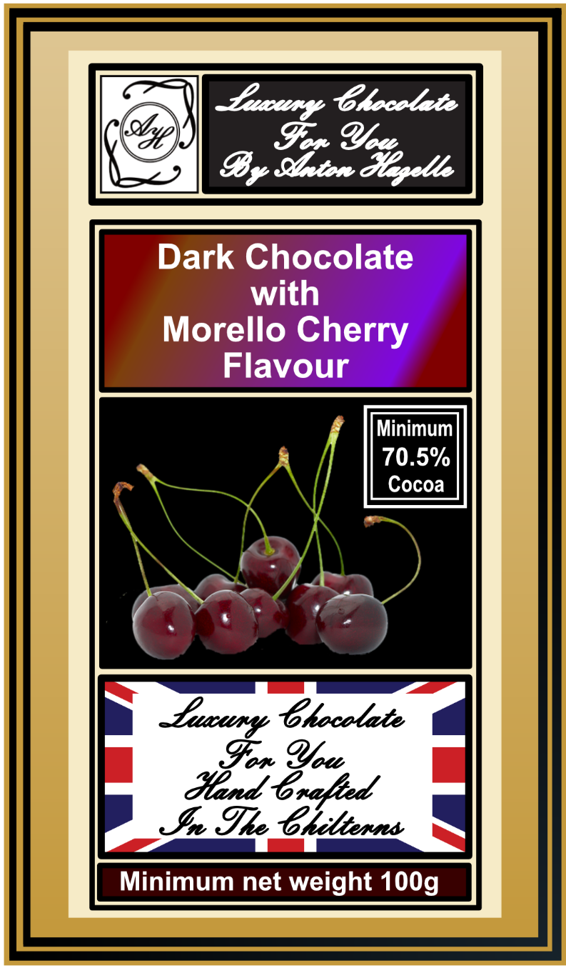 70.5% Dark Chocolate with Morello Cherry Flavour