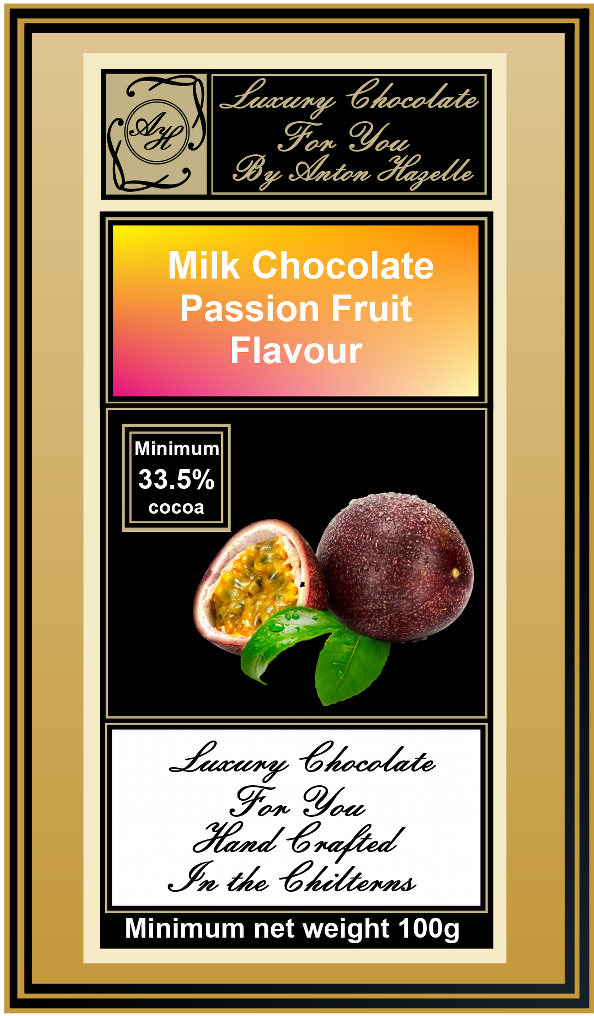 Milk Chocolate with Passion Fruit Flavour