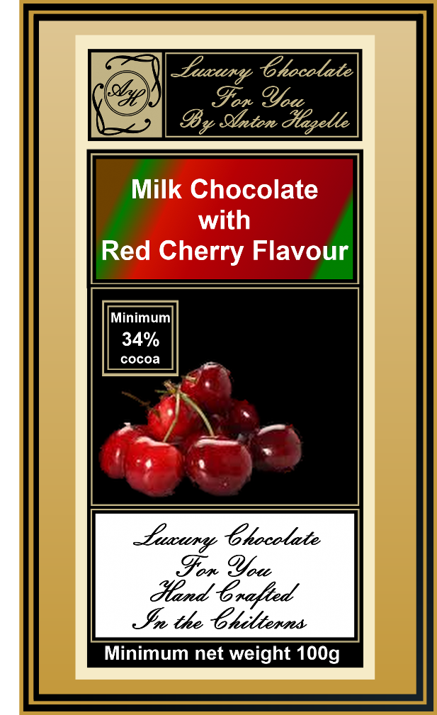 Milk Chocolate with Red Cherry Flavour