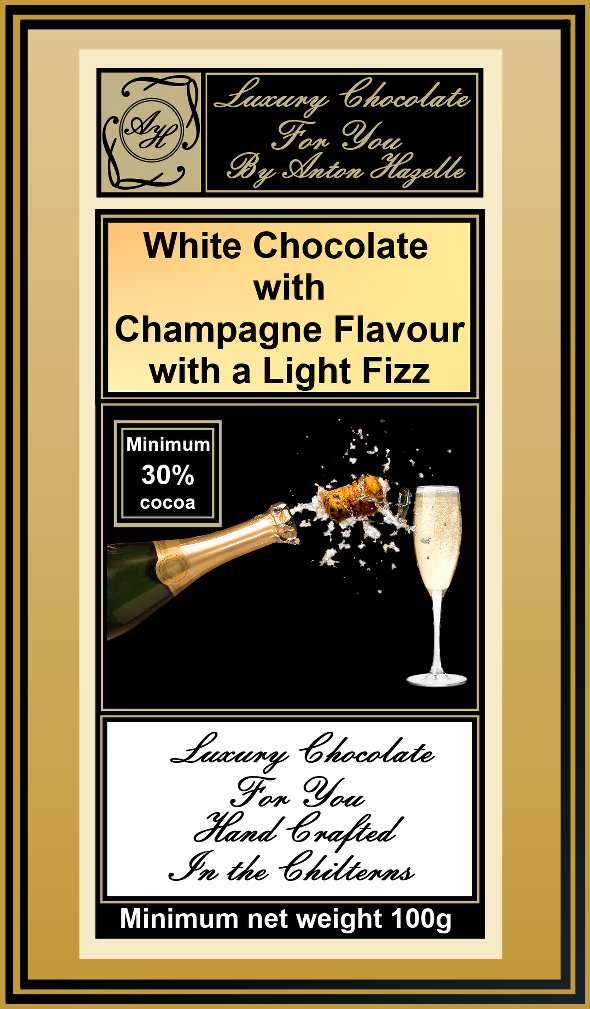 White Chocolate with Champagne Flavour & Light Fizz