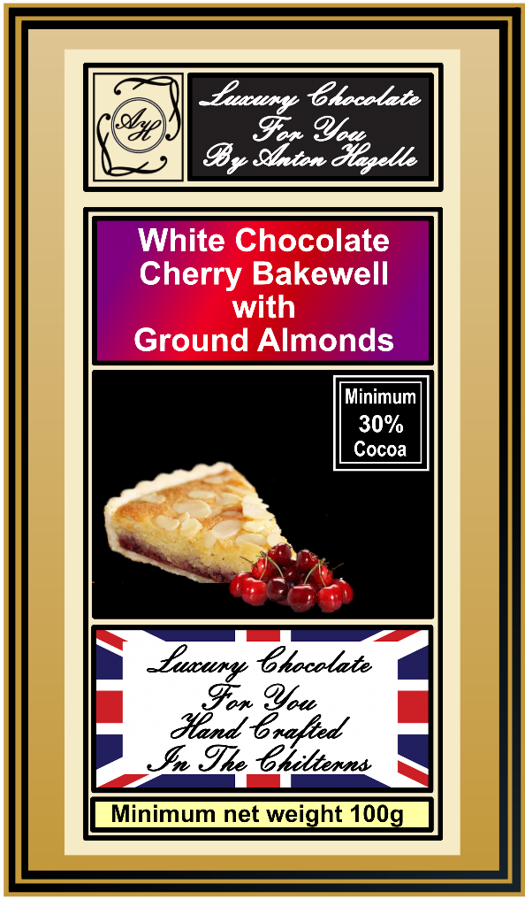 White Chocolate Cherry Bakewell with Ground Almonds