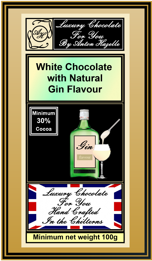 White Chocolate with Gin  Flavour