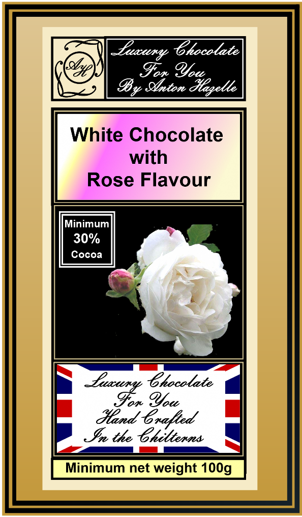 White Chocolate with Rose Flavour