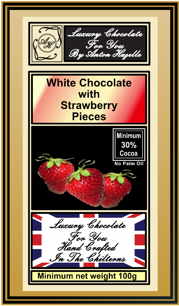 White Chocolate with Strawberry Pieces