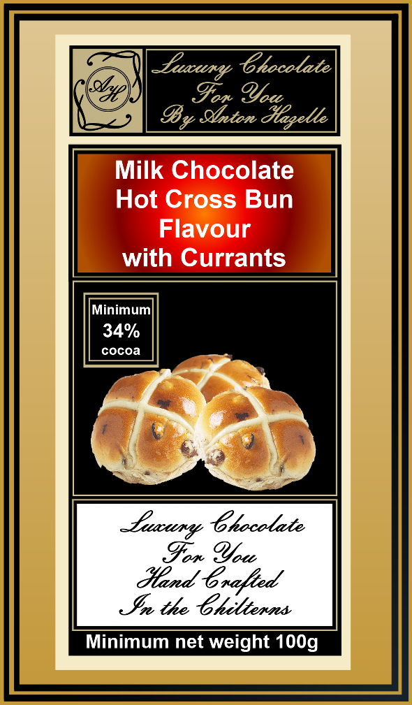 Milk Chocolate with  Hot Cross Bun Flavour with Currants